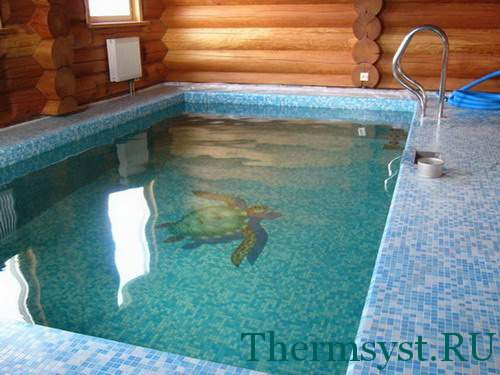 Отделка бассейна бани