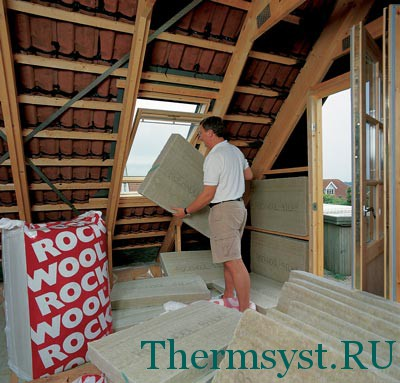 Процесс теплоизоляции крыши