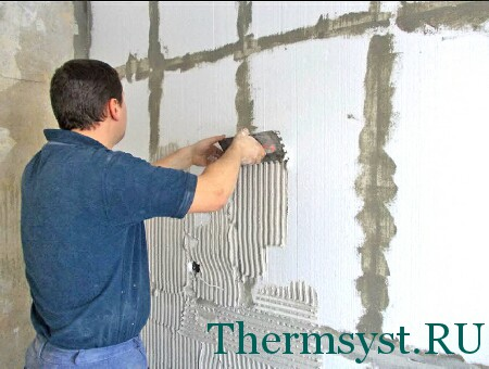 Технология утепления стен пенопластом изнутри