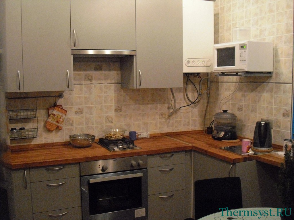 Котел на кухне